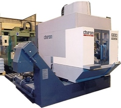 Chiron cnc machining center photographed on the shop floor at Presbar.